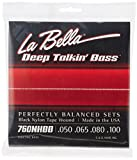 La Bella 760NHBB/Hofner Beatle Bass/050-100/Black Nylon Tape Wound