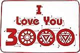 ティーズファクトリー ひざ掛け I LOVE YOU 3000 H67×W100cm マーベル ブランケット MV-5539009LY