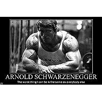 Arnold Schwarzeneggeボディ建物ニースシルク生地壁ポスター印刷 36 inch x 24 inch