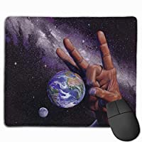Cheng xiao Mouse Pad Planets Earth Funny Graphics Rectangle Rubber Mousepad Non-toxic Print Gaming Mouse Pad with Black Lock Edge,9.8 * 11.8 in,ベーシック マウスパッド ゲーム用 標準サイズ