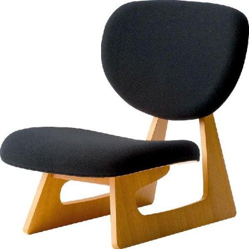 低座いす 長大作 国産品 天童木工 S-5016NA-ST 布張りNC-99(ブラック)