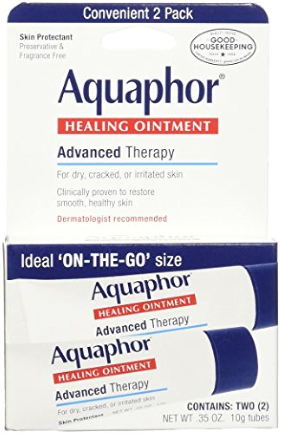意図ピッチ生き残ります海外直送肘 Aquaphor Healing Ointment 2 Pack, 2/3.5 oz
