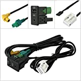 Liebeye USB 3.5mm AUX スイッチソケット RCD510 RCD310 RCD300 MDF20 / 231 VW Magotan Touran POLO用