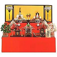 雛人形 久月 ひな人形 雛 三段飾り 五人飾り 清水久遊作 縫取 七番親王 三五官女 久月オリジナル頭 h303-k-1158 K-27