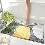 Shower Mat Bath Mat Cute Cartoon Picture Design Shower Rug Non-Slip Durable Wool Absorbent Bath Rug Semi-Circle Door Mat Wool