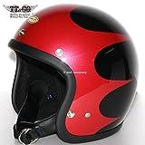 TT&CO. スーパーマグナム スキャロップ スモールジェットヘルメット SG/DOT 規格品 ブラック