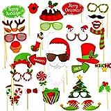クリスマス写真ブース用小道具 - クリスマスパーティーのお土産装飾キット - 32個