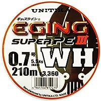 ユニチカ(UNITIKA) PEライン キャスライン エギングスーパーPEIII WH 210m 0.8号 6kg ホワイト