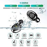 Bluetooth イヤホン 高音質 IPX7防水規格 ワイヤレス イヤホン ACC Hi-Fi 左右両耳通用 マイク付 片耳両耳とも対応 両耳ステレオ音声通話 iPhone/Android対応 超軽量 ホワイト 1-13 660