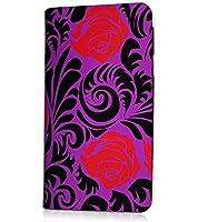 HTL21 HTC J butterfly au 専用 手帳型ケース薔薇 デザインD エレガント