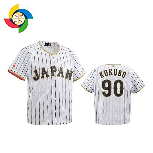 MIZUNO(ミズノ) 侍ジャパン レプリカユニホーム(プリント) 小久保監督 ホーム 12JC7F8290 ホワイト×サムライネイビーダイヤモンドストライプ (01) L-O 野球 日本代表 侍JAPAN