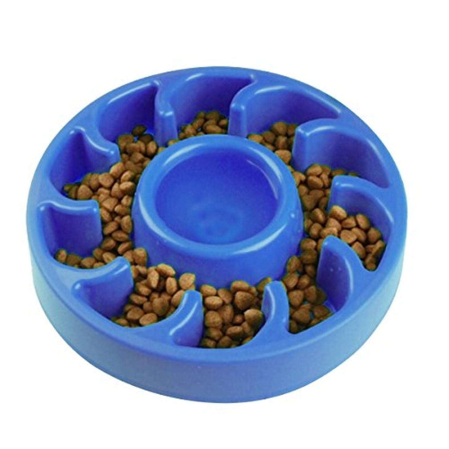 MEWTOGO-犬用 早食い防止食器 ダイエット用 早食い防止お皿 滑り止め ゆっくり食べる 丸飲み防止 知育 肥満対策 小型犬 中型犬 送料無料-ブルー