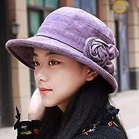 Chuiqingwang フィッシャーマンズハットバイザービーチハットサンキャップ初秋の女の子の女の子流域キャップビデオ細い先端を帽子 (Color : The Purple, サイズ : M)