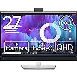 Dell ビデオカンファレンスモニター 27インチ C2722DE(3年間無輝点交換保証/sRGB 99%/IRウェブカメラ付/USB-C/LANポート(RJ45)/QHD/IPS非光沢/DP,HDMI/縦横回転,高さ調節/マイク,スピーカー付)