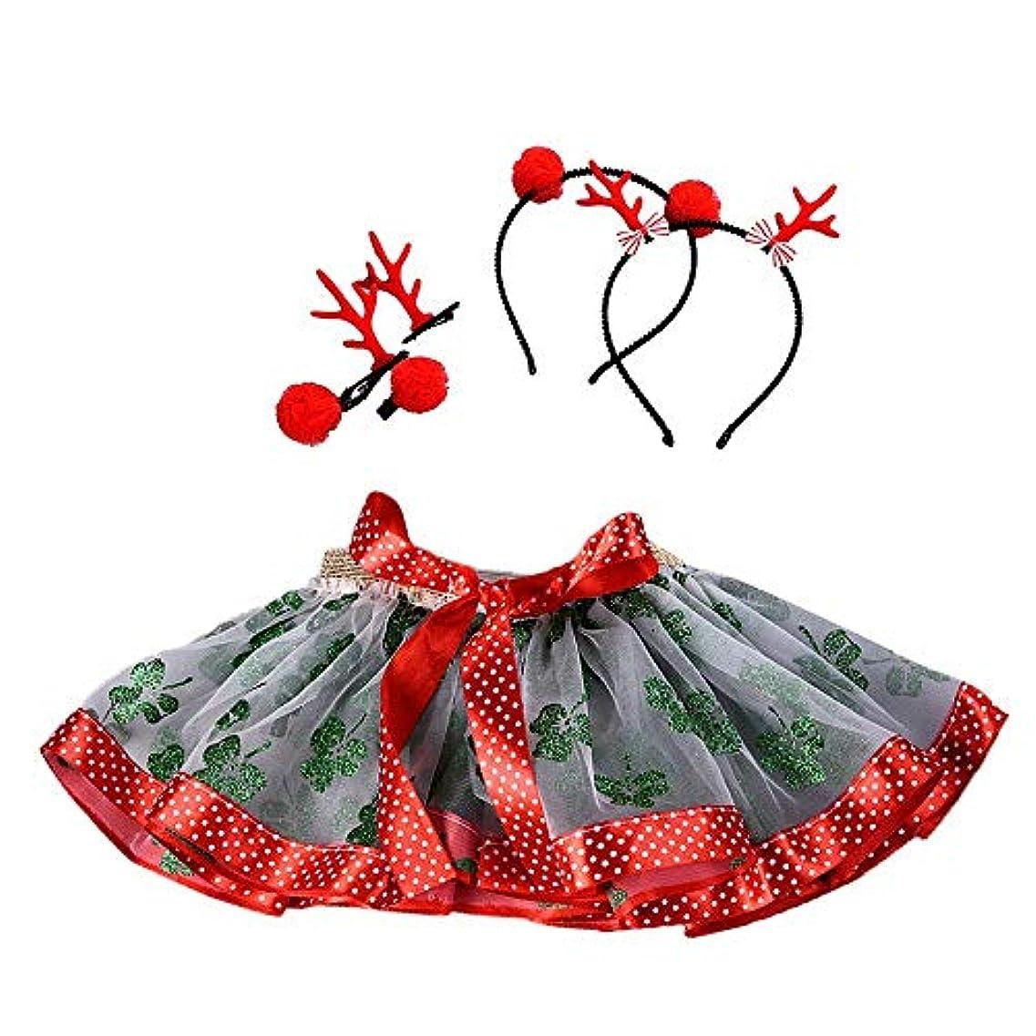 うがい薬驚き洗剤スカート+ヘアフープ 女の子 クリスマス 可愛い きれい ダンスウェア バレエスカート Jopinica 子供服 パーティースカート チュチュスカート ペチスカート キッズ ガールズ プリンセススカート キラキラ ステッチ コスチューム プリーツスカート
