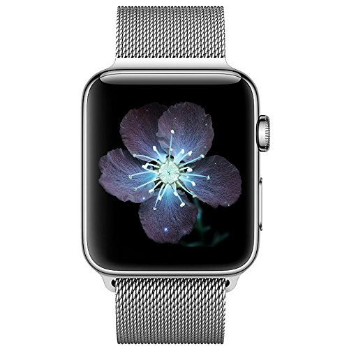 BRG コンパチブル apple watch バンド,ミラネーゼループ コンパチブルアップルウォッチバンド ステンレス留め金製 アップルウォッチ4 コンパチブル apple watch series4/3/2/1に対応(38mm/40mm,シルバー)