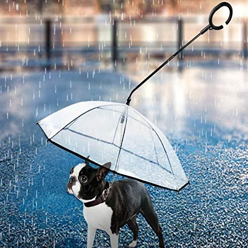 ペット用傘 ペット用品 レイングッズ アンブレラ 犬用傘 雨具 透明雨の日に散歩 リード接続 チェーンイ付き 超撥水 風邪防止 猫用 小型犬 中型犬