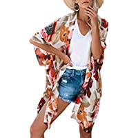 Kimono Swimsuit Cover-Up Caridgan Beach Loose Top for Women