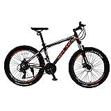 SPEAR (スペア) マウンテンバイク アルミフレーム シマノ製21段変速 SPM-2621 ディレラー Tourney(ターニー) 適用身長160cm以上 1年保証 男性 女性 初心者 (ブラック×オレンジ)