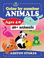 Color by number :Animals: For ages 4-8