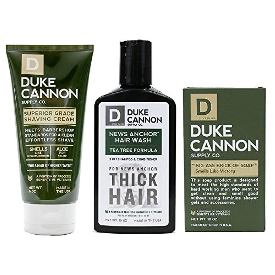 パフごみガロンMens Duke Cannon Grooming Bundle of 3 products; 1 6oz Superior Grade Shaving Cream, 1 10 oz Smells Like Victory...