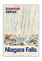 ナイアガラフォールズ、ニューヨーク - アメリカン航空 - ビンテージな航空会社のポスター c.1968 - アートポスター - 33cm x 48cm
