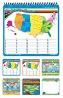 Board Dudes Wire Bound Dry Erase Activity Book - Geography (11220UA-4) Model: 11220UA-4