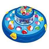 おもちゃ 玩具 子供 魚 釣り 釣竿 4本付 2段わくわく おさかな釣りゲーム ブルー