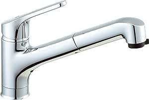 LIXIL(リクシル) INAX キッチン用 台付 吐水口引出式 ハンドシャワー付シングルレバー混合水栓 クロマーレ(エコハンドル) SF-HB452SYX