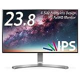 LG モニター ディスプレイ 24MP88HV-S 23.8インチ/フルHD/IPS 非光沢/4辺フレームレス/HDMI端子×2/スピーカー内蔵/ブルーライト低減機能