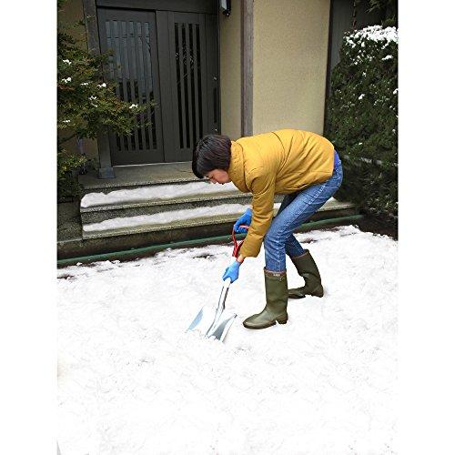 コンパル 除雪用品 雪対策 アルミ角スコ(小)