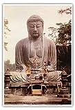 大仏、鎌倉 - 高徳院寺院、日本 - ビンテージな宗教的なアート c.1921 - アートポスター - 33cm x 48cm