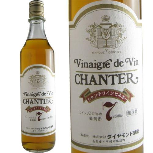 シャンテワインビネガー 7° 【6本セット】 日本 白ワイン 550ml【取り寄せ:8月上旬入荷予定】