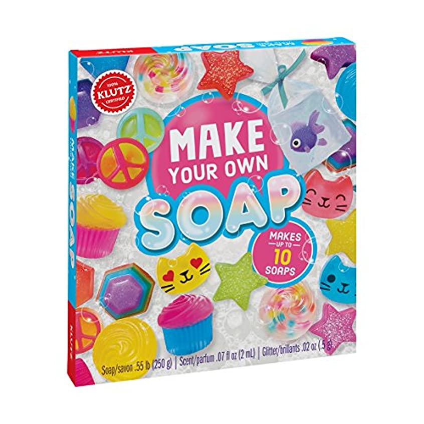 バイオリニストモードリンポゴスティックジャンプKlutz K810645 Make Your Own Melt & Pour Soap Kit