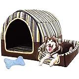 犬用マット|ペット用品寝マット| |冬は暖かく洗えるように保つ|フォーシーズンズドッグケネペットベッドラージドッグドッグハウスl |屋内犬小屋,A