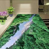 Xueshao カスタム3D写真の壁紙現代キャニオンフォレスト浴室床絵画用リビングルーム壁自己接着壁画壁紙-350X250Cm