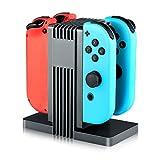 Amazon.co.jpIVSO Nintendo Switch Joy-Con 充電スタンド Nintendo Switch充電ホルダー Nintendo Switchチャージドック 4台コントロールと充電可 LEDインジケータ Nintendo Switchに適用スタンド(ブラック)