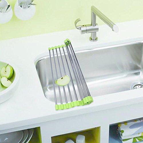 EFORCAR 1PCS 47cm*23cm ステンレス 水切り キッチン 台所用品 乾燥の写真