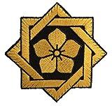 [ ワッペン屋Dongri ] 全面刺繍 ベルクロワッペン 坂本龍馬 家紋 桔梗紋 A0017