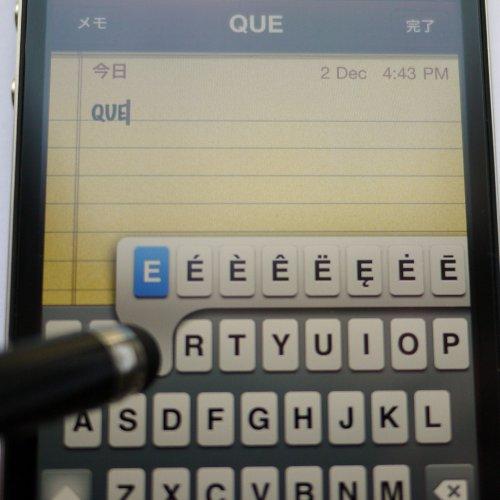 iPhone/ iPad/ Galaxy 対応 タッチペン (ブラック)