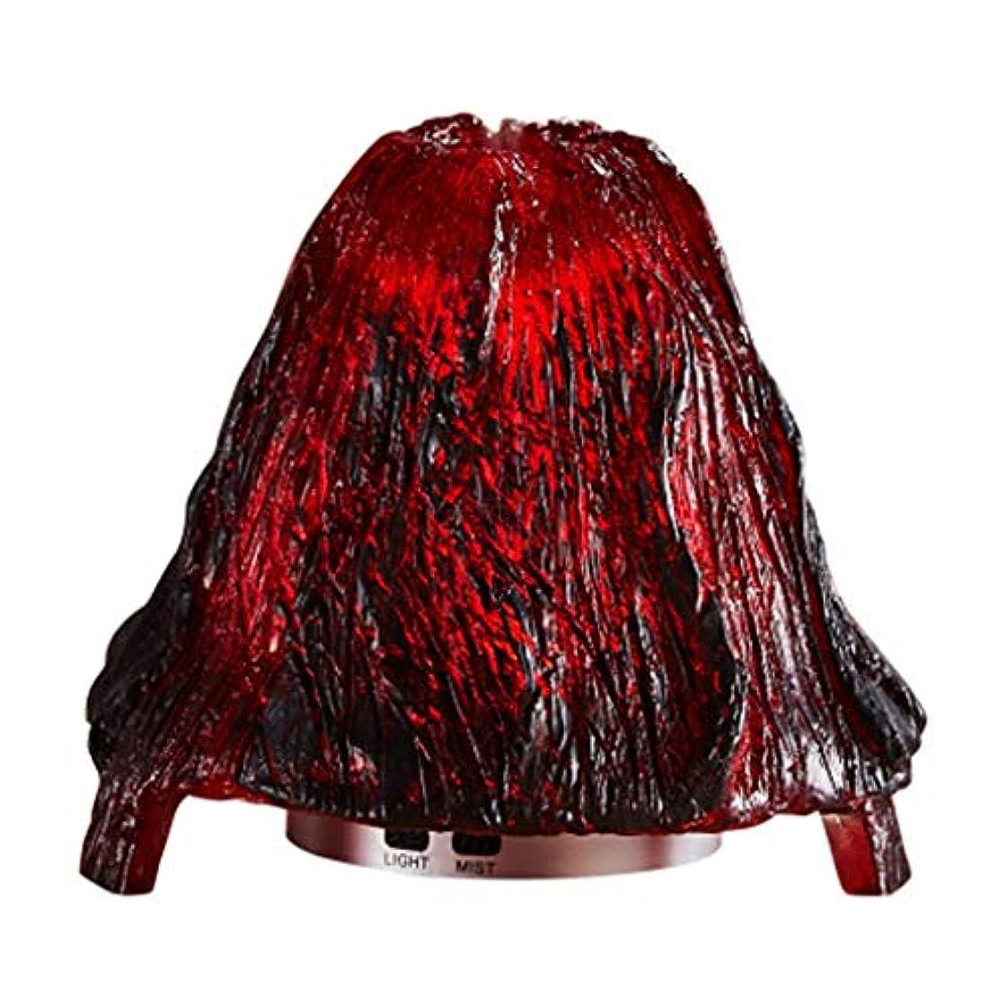 分類する空港戻すクールミスト加湿器ミスト100mlディフューザーディフューザー7色LEDライト/ウォーターレス自動シャットダウン(火山) (Color : Red)
