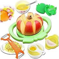 キッチン 食べ物 ガジェット 7個セット フルーツパースナイフ 果物切断装置 プレーナイフ 餃子デバイス エッグビーター 卵白セパレータ オレンジを開く機