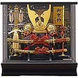 五月人形 ケース入り 兜 天馬 パノラマアクリルケース 幅38cm [fn-33] 端午の節句