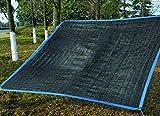 Cool Sun 日よけ シェード 200cm×215cm 遮光率約90% 風通し良好 エコ & 電気代節約 目隠しにも最適 (ブラック)
