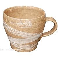 波佐見焼 マグカップ 利左エ門窯   伝統の窯元が茶道具の技術を用いて造った高級陶器 (乱刷毛ベージュ)