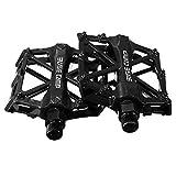 [Dokpav]超軽量アルミ合金製 自転車ペダル カラーオプション 2個 (黒)