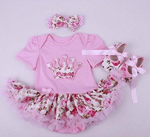 """20–22""""ピンククラウンReborn人形Baby Princess Girl 's Toyドレススカートリアルな新生児赤ちゃん服幼児セットソフトスワップパックEasy Clean Toyギフト"""