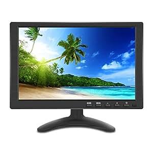 10.1インチ 液晶 小型 モニター IPS 1280 * 800 全視野 高画質 サブ ディスプレイ HDMI USB VGA BNC AV 多様接続 日本語メニュー スピーカ内蔵 モバイル モニター