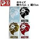 【NESTA BRAND】ネスタブランド New縦ステッカー中サイズ/10.7cm×17cm/ホワイト ブラック ゴールド レッド BLK