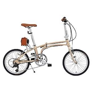 Daytona PotteringBike(デイトナ ポタリングバイク) 電動自転車DE01【完成車 組立済】 シャンパンゴールド 51760 20インチ ミニベロ 折りたたみ自転車